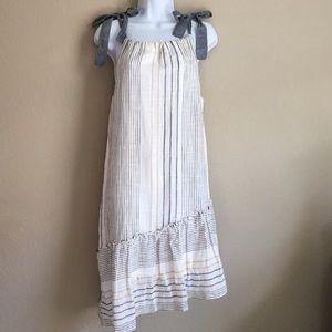 Anthro Maeve Yarn Dyed Miller Dress